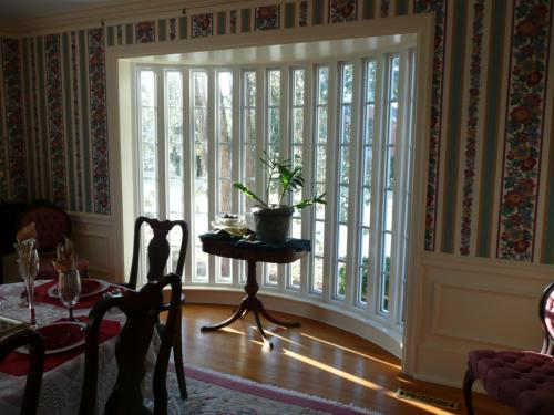 custom built curved windows from the inside